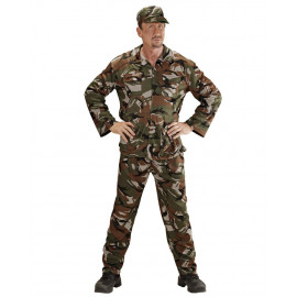 Costume Carnevale Uomo Travestimento Mimetica Militare PS 26302 Pelusciamo Store Marchirolo