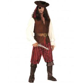 Costume Carnevale Adulto Pirata, Vestito Bucaniere PS 19802