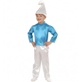 Costume Carnevale Bimbo travestimento bambino nano blu puffo *19955
