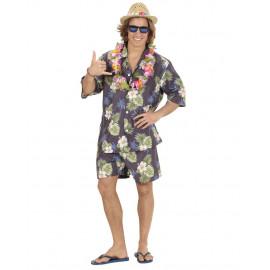 Costume Carnevale Uomo Hawaiano Camicia, Pantaloncini PS 26405 pelusciamo store Marchirolo