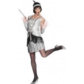Costume Carnevale Donna Charleston Silver jazz anni 20,30  *12358