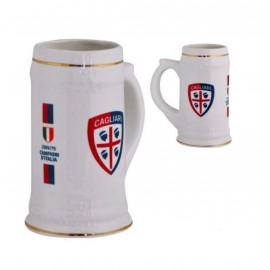Boccale in ceramica Cagliari calcio prodotto ufficiale 04516 pelusciamo store