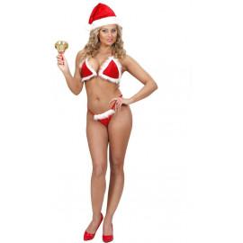 Costume Donna Natalizio Bikini Babba Natale PS 03916 Pelusciamo Store Marchirolo