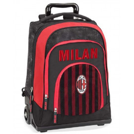 Trolley Zaino Scuola AC Milan Calcio PS 06588 Scuola Tifosi Milanisti pelusciamo store