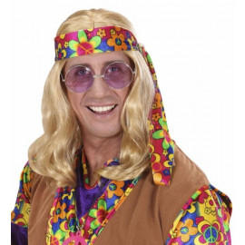 Parrucca hippie dude anni 60 Accessori Costume Carnevale *20068 pelusciamo store