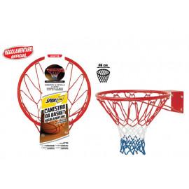 Canestro Basket Regolamentare con Rete e Kit fissaggio 06725 giochi per bambini PELUSCIAMO STORE