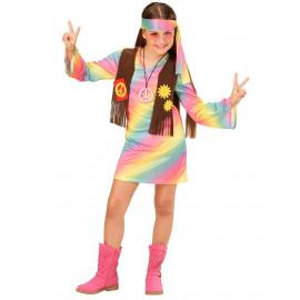 Costume Carnevale Bambina Hippie Anni 60 PS 26177 Figli Dei Fiori