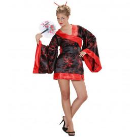 Costume Carnevale Geisha Madame Butterfly PS 10915 Abito Kimono Giapponese Pelusciamo Store Marchirolo
