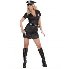 Costume Carnevale Donna Poliziotta Nero Cop PS 26582 Pelusciamo Store Marchirolo
