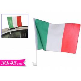 Bandiera Italiana Con Supporto Per Finestrino 30x45 cm PS 06698 pelusciamo store