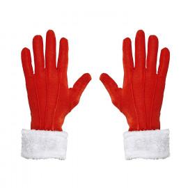 Accessorio Costume Guanti Babbo Natale Con Finitura in Peluche PS 14377 Pelusciamo Store Marchirolo