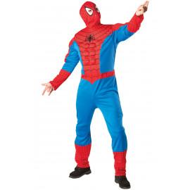 Costume Carnevale Adulto Spiderman uomo ragno Marvel *17611
