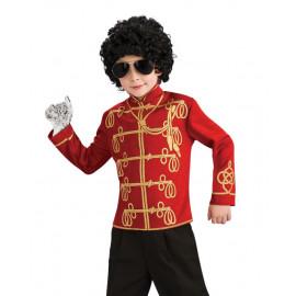 Costume Carnevale Bimbo Giacca Militare Rossa Michael Jackson