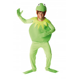 Costume Carnevale Adulto Kermit Rana cartoni Muppets show rubies