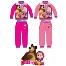 Tuta felpata bambina con zip cartone animato Masha e l'orso *22095