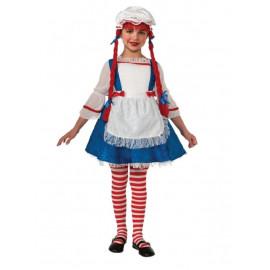 Costume Carnevale Bambina Bambola di Pezza *17635