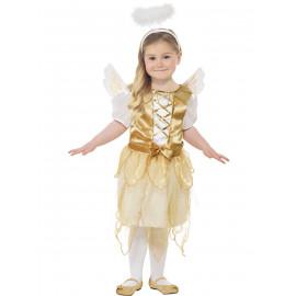 Costume Natalizio per bambina da angelo travestimento angioletto | pelusciamo.com