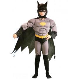 Costume carnevale bambino uomo pipistrello con muscoli PS 01609