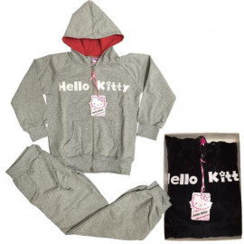 Tuta Donna Hello kitty con cappuccio, Felpa con Cappuccio e Pantaloni Sanrio  | pelusciamo.com