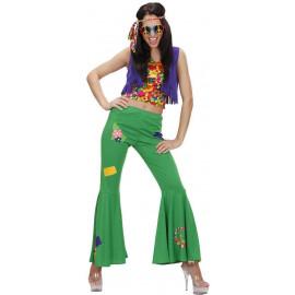 Costume Carnevale Donna Hippie,  Woodstock Anni 60 PS 24878