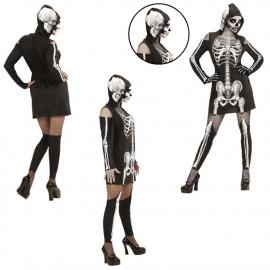Costume Halloween Donna, Vestito da  Scheletro *24556 Ragazza | pelusciamo.com