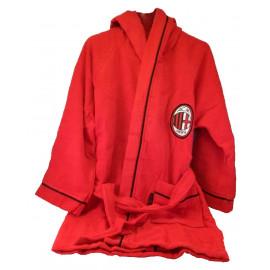 Accappatoio bambino con cappuccio Milan calcio *02964 bagno Piscina Mare pelusciamo store