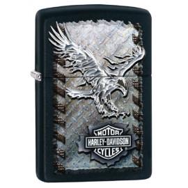 Zippo Harley Davidson Eagle Shield , Black Matte nero opaco 03296 PELUSCIAMO