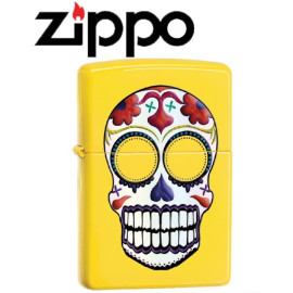 Accendino Zippo teschio giallo 24894 *18913 pelusciamo store
