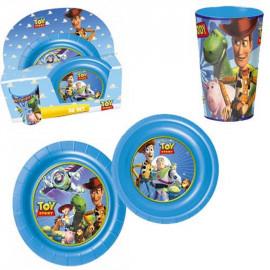 Accessori Disney Set pranzo Toy Story piati e bicchiere *13107