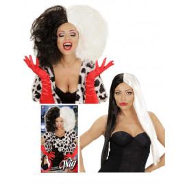 Accessorio Costume Carnevale Parrucca Crudelia Demoniaca cotonabile *19725 pelusciamo store