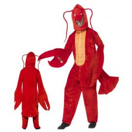 Costume Carnevale Adulto Aragosta , serie Mascotte Animali