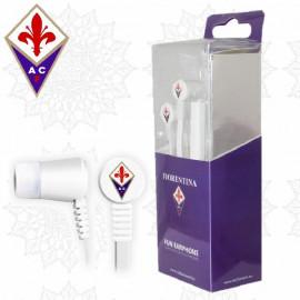 Cuffie ACF Fiorentina auricolari in ear ufficiali Gadget Viola  | pelusciamo.com