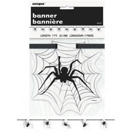 Accessori Arredo Party banner Spiderr Halloween 213 cm. *01085 | pelusciamo.com