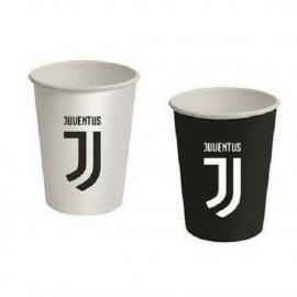 Confezione 8 Bicchieri Carta Juventus JJ , Arredo Festa Juve Calcio PS 10326