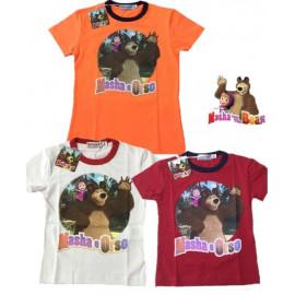 T-shirt  Bimbo Masha e Orso Maglietta Manica Corta | Pelusciamo.com