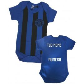 Body Neonato Inter Nero Azzurro Personalizzabile Fc Internazionale PS 20974 Personalizzato