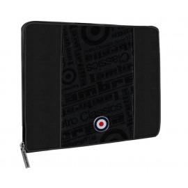 Borsa Organizer Porta Notebook tessuto blu scuro 37x27 cm | Pelusciamo.com