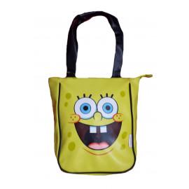 Borsa Shopping Spongebob Smile gialla con rifiniture nere *10709