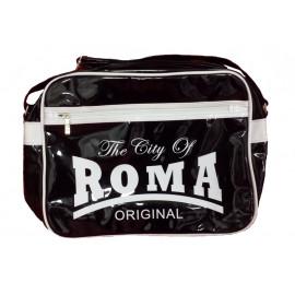 Borsa a tracolla plastificata The City of Roma nera | Pelusciamo.com