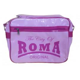 Borsa a tracolla plastificata The City of Roma rosa | Pelusciamo.com