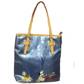 Borsa donna Disney Crudelia e i dalmata vernice Blu *02829 pelusciamo