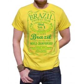 T-shirt nazionale verdeoro maglietta mondiali 2014 Brasile Brazil *18143
