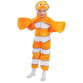 Costume Carnevale Pesce Clown Travestimento Clownfish PS 26040