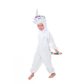Costume Carnevale Unicorno In Peluche Travestimento Pigiamone PS 25703