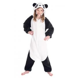 Costume Carnevale Panda In Peluche Travestimento Pigiamone PS 25710