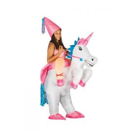 Costume Carnevale Bambina , Unicorno Gonfiabile PS 09382 Taglia Unica Pelusciamo Store Marchirolo