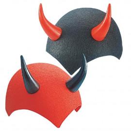 Calotta Diavolo Feltro Rossa O Nera Accessori Halloween PS 09049 Pelusciamo Store Marchirolo