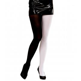 Calze Collant Bicolore anni 70 bianco nero, Costume Carnevale Donna | Pelusciamo store