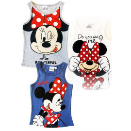 Canotta Bimba Minnie Mouse, Abbigliamento Disney Topolina | Pelusciamo.com