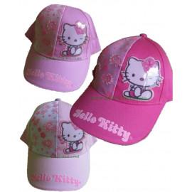 Cappellino baseball con visiera Bimba Hello Kitty fiori *08264